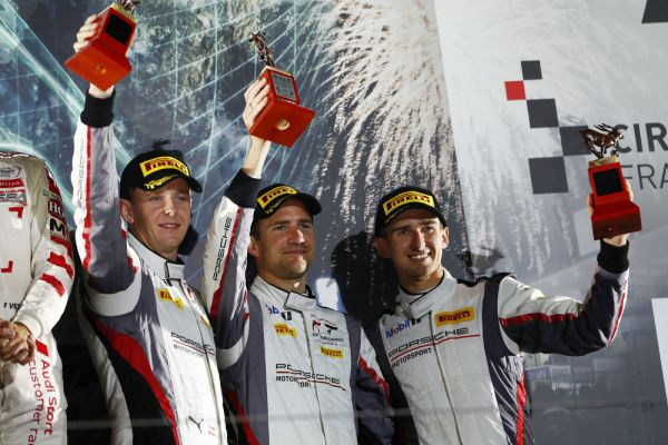 Porsche on the podium in Suzuka after strong charge through the field
