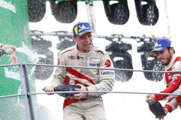 Larry ten Voorde celebrates first Porsche Supercup victory at Monza