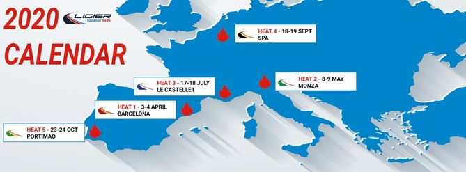 The Ligier European Series reveals its calendar, tyre supplier (Michelin), and sporting information