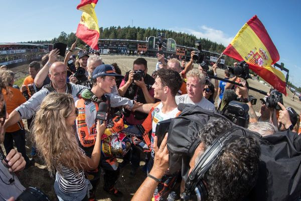 Prado takes second consecutive MX2 FIM World Championship at GP of Sweden