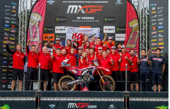 Rider standings ahead of MXGP of China