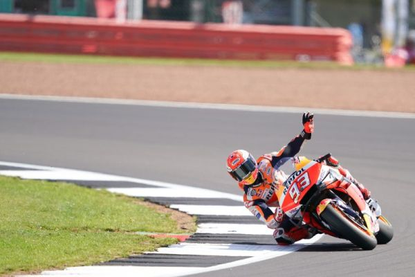 Marquez under Silverstone lap record as Lorenzo returns