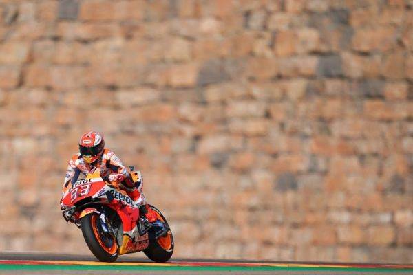 Marquez storms Aragon on Friday - combined result