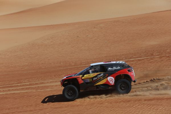 Al Qassimi sets hot pace in Abu Dhabi Baja as Docherty grabs bikes lead on rally debut