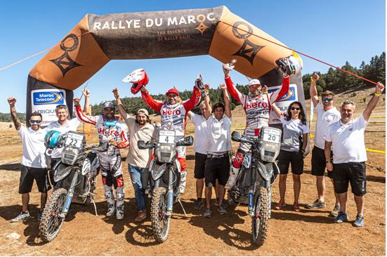 Hero MotoSports Team Rally completes Rally Du Maroc 2019 with another Top 15 finish