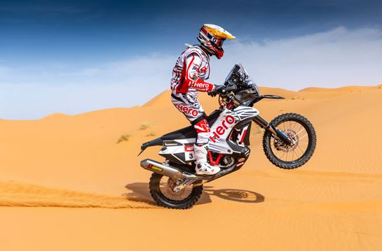 Joquim Rodrigues starts the Pan Africa Rally 2019 campaign for Hero MotoSports Team Rally with a win