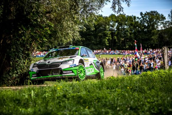 Barum Czech Rally Zlin stage 14 classification top 30 notes and quotes