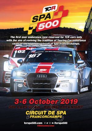 TCR Spa 500 -Race cars to parade from the track to Malmédy