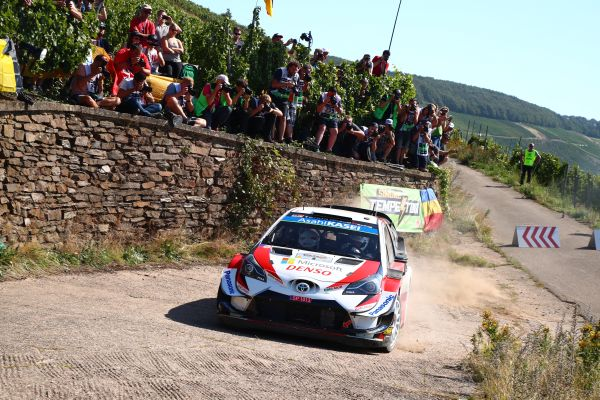 Tänak and Neuville battling for the lead at the ADAC Rallye Deutschland