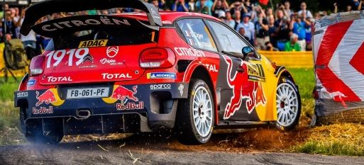 Ogier-Ingrassia on podium in the C3 WRC ready to pounce