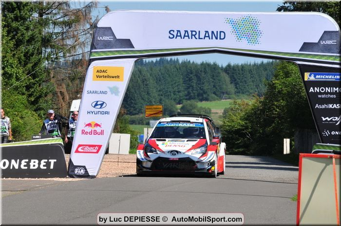 Ott Tänak leads the way at the ADAC Rallye Deutschland 2019