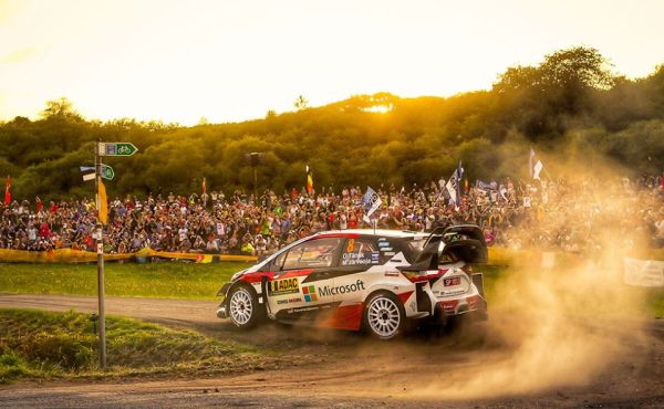 Toyota Yaris WRC takes an early lead on German asphalt