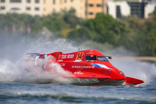 Advantage Jonas Andersson after brilliant F1H20 pole in Sharjah