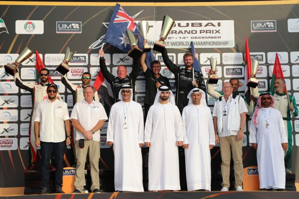 UIM XCAT World Championship Dubai GP race 2 results -standings