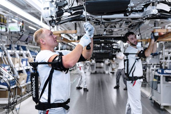 Audi production tests exoskeletons for overhead tasks