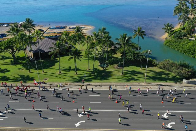 Perfect day for Honolulu Marathon in Hawaii