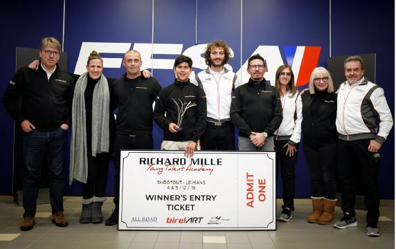 Rafael Villagomez recognized by the Richard Mille Young Talent Academy in Le Mans