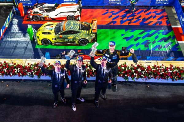 Porsche customer team Project 1 celebrates first win of the season