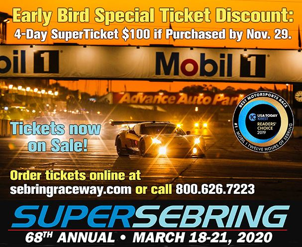 Sebring 2020 Early Bird ticket discount dnds Friday