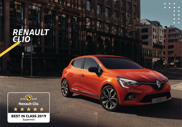 New Renault CLIO named by EuroNCAP best in class supermini in terms of safety
