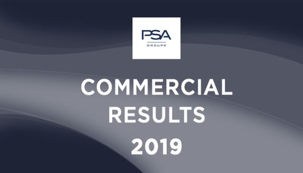 PSA GROUP - Worldwide sales at 3.5m units in 2019