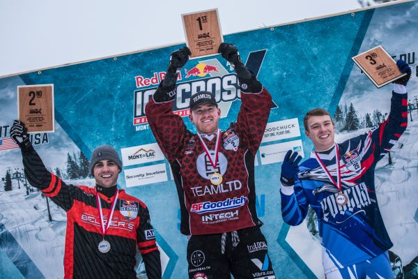 Red Bull Ice Cross Downhill, Mont-du-Lac Final results MEN - Croxall victorious