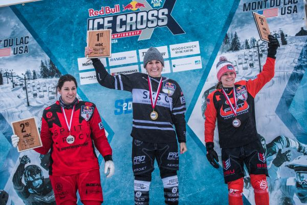 Red Bull Ice Cross Downhill - Mont-du-Lac Final results WOMEN - Trunzo wins