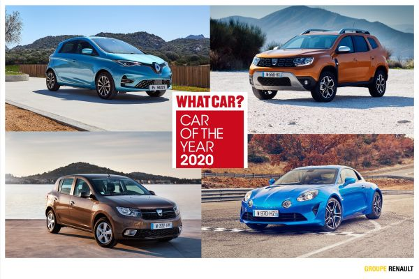 Renault, Dacia and Alpine win awards at 2020 What car? ceremony