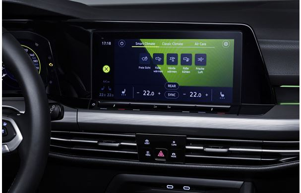 The new VW Golf responds with intelligent climate control