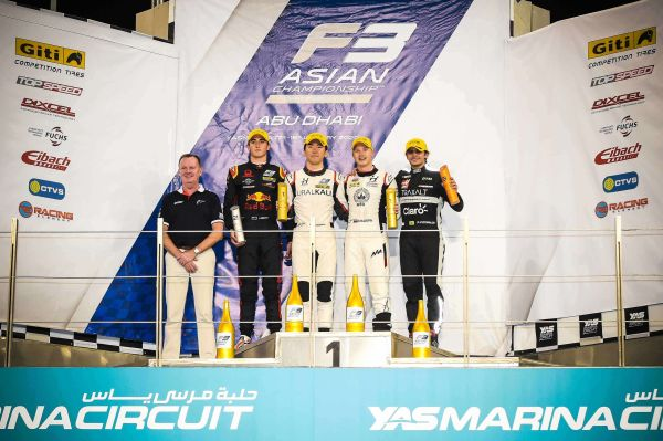 Ukyo Sasahara and Nikita Mazepin take a one-two finish for Hitech Grand Prix in Abu Dhabi