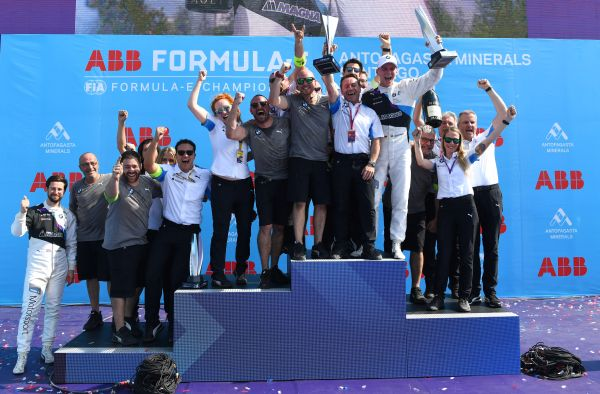 Maximilian Günther claims the first win of his Formula E career at the Santiago E-Prix.