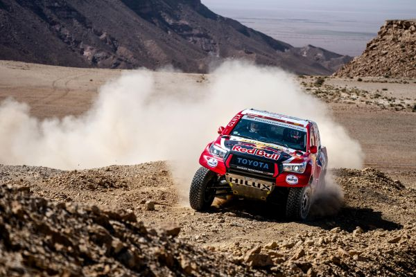 Al-Attiyah and Al-Rajhi reach Dakar Rally finish in Qiddiya in second and fourth place