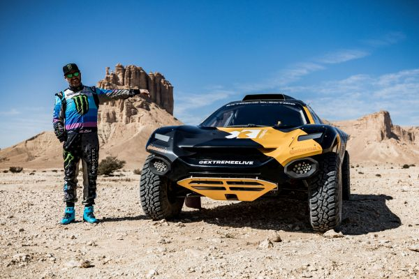 Extreme E E-SUV and Ken Block prepped for maiden Dakar Rally outing
