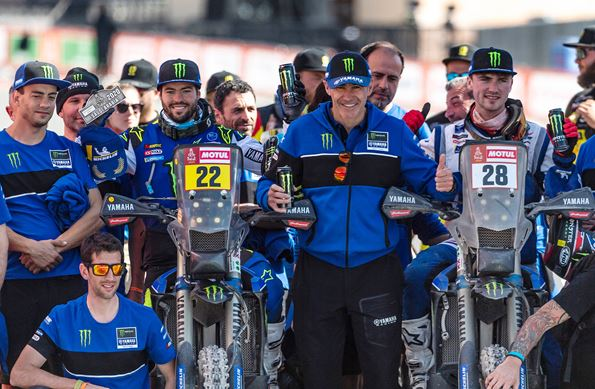 Monster Energy Yamaha Rally Team's Franco Caimi and Jamie McCanney Successfully Complete 2020 Dakar Rally