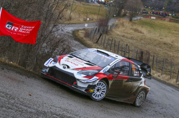 Rallye Monte-Carlo stage 6 classification,WRC2, WRC3 - Evans in lead