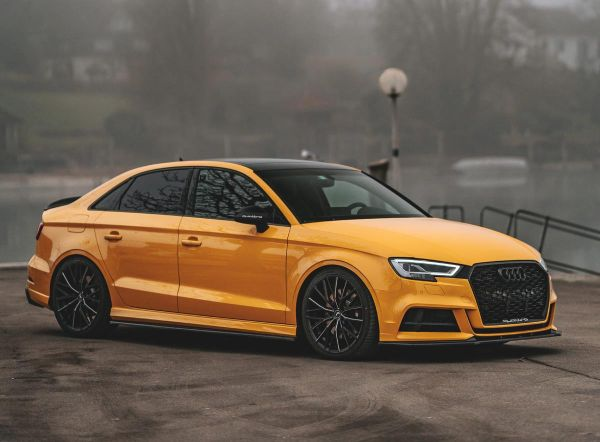 RS 3 meets Project 3.0 – compact sports sedan on light Barracuda wheels