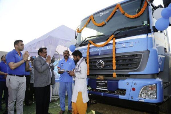 Major delivery for Daimler Trucks in India: 120 BharatBenz trucks for CJ Darcl Logistics