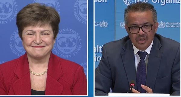 Joint Press Briefing WHO/IMF with MD Georgieva