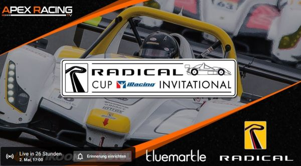 Second Radical Cup iRacing Invitational, Silverstone live tomorrow