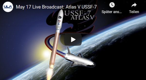 ULA Atlas V to launch USSF-7 watch livestream today