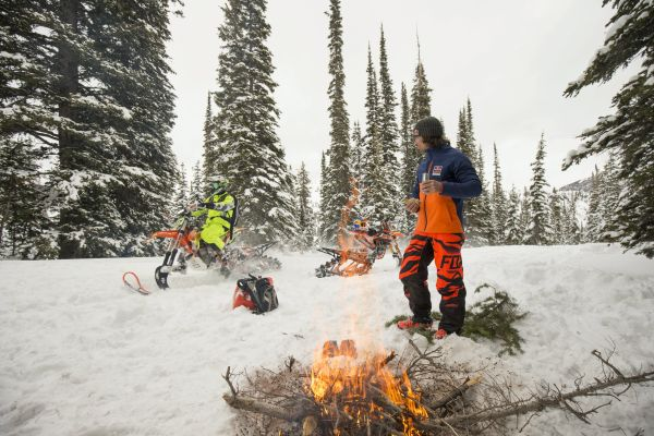 Idaho backcountry acts as backdrop for snowbike pioneers