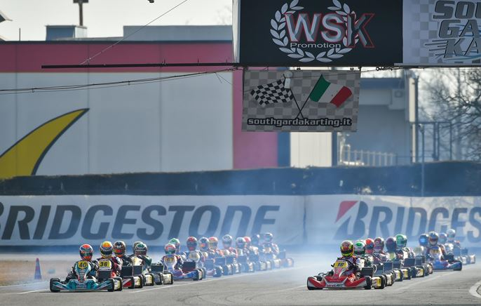 The intense weekend of WSK Super Master Series kicked off in Lonato