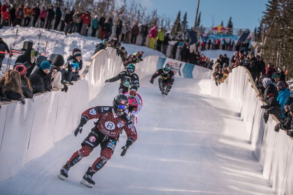 Red Bull Ice Cross World Championship - Croxall wins controversial final at Le Massif, Canada