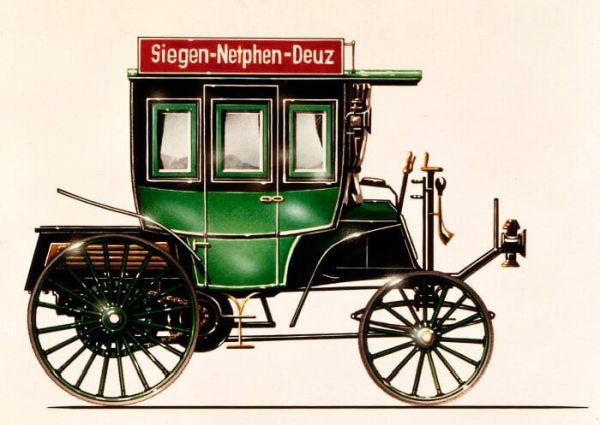 125 years ago: First bus with combustion engine from Benz & Cie