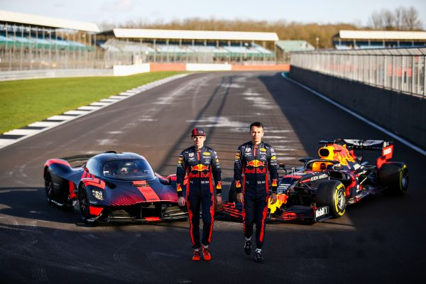 Max Verstappen and Alex Albon gets hands on with the Aston Martin Valkyrie