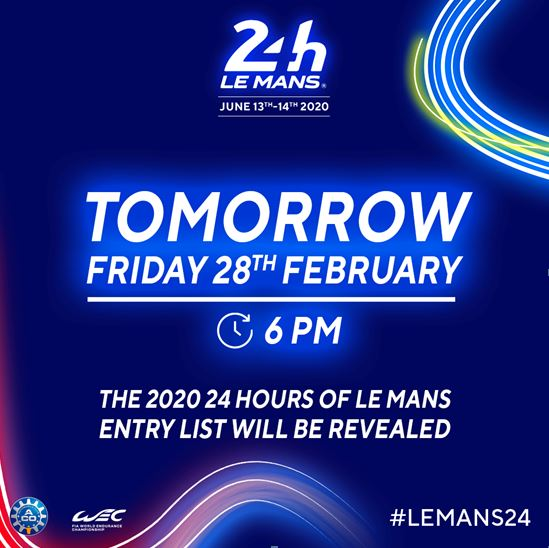 24h Le Mans - The entry list 2020 revealed tomorrow