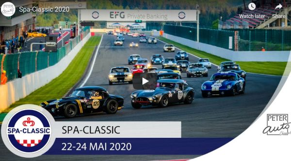 Spa-Classic from 22-24 May 2020, entry form