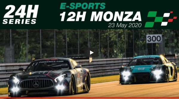 Esports 12 Hours of Monza race classification -eTeam WRT one takes victory