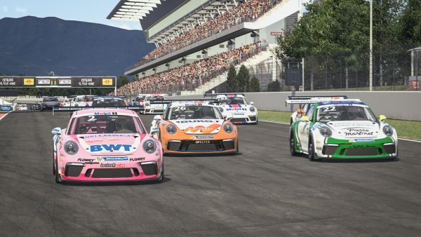 Ten Voorde and Porsche Junior Güven win virtual Porsche Supercup season opener
