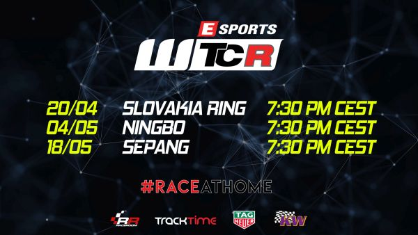 Livestream e-WTCR Slovakia Ring this evening 20.4.2020